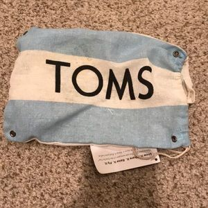 Toms Shoes - Kids toddler silver sparkle Toms shoes size 7